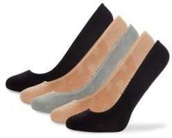 Betsey Johnson Five-Pack Dot Liner Socks