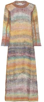 Acne Studios Losse mohair and alpaca-blend dress