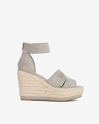 Express Faux Suede Wedge Sandals