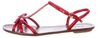 Prada Patent Leather Bow Sandals
