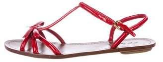 Prada Patent Leather Bow Sandals