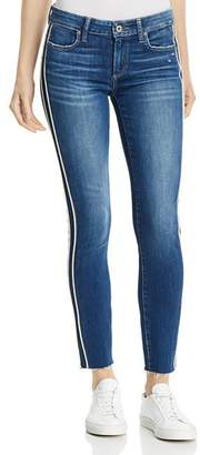 Paige Verdugo Piped Ankle Skinny Jeans in Indigo Cream