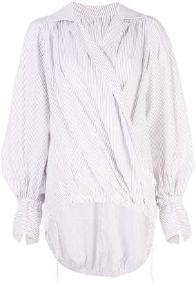 Rosie Assoulin pinstripe oversized blouse