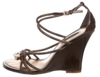 Louis Vuitton Multistrap Wedged Sandals