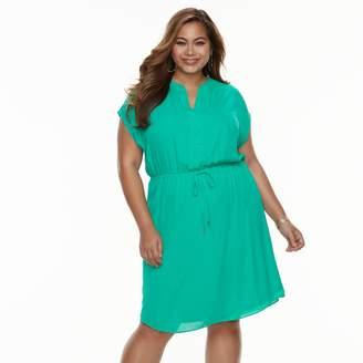Apt. 9 Plus Size Chiffon Short-Sleeved Dress