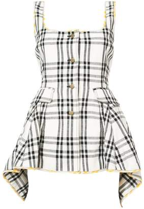 Rosie Assoulin checked button blouse