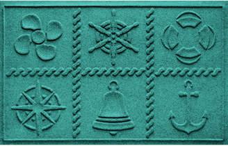 Bungalow Flooring Aqua Shield Nautical Grid Doormat