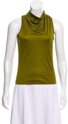 Hermes Silk Sleeveless Top