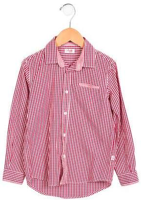 Il Gufo Boys' Gingham Button-Up Top