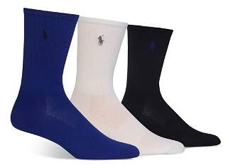 Polo Ralph Lauren Shiny Tech Crew Socks, Pack of 3