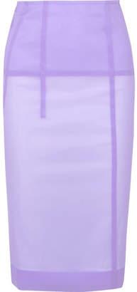 Victoria Beckham - Silk-blend Organza Pencil Skirt - Lilac