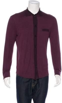Giorgio Armani Button-Up Polo Sweater