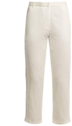 Mes Demoiselles Dobby Dot Cotton Trousers - Womens - White