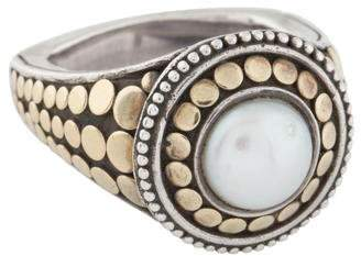 John Hardy Two-Tone Pearl Dot Cocktail Ring