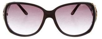 Chopard Embellished Oversize Sunglasses