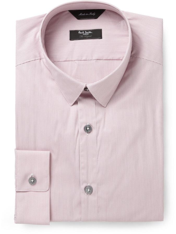 Paul Smith Red Byard Check Cotton-Blend Shirt
