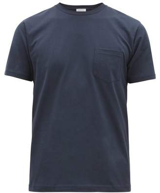 Sunspel Riviera Cotton Jersey T Shirt - Mens - Navy