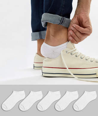 Asos DESIGN sneaker socks in white 5