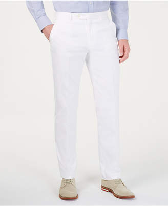 Tommy Hilfiger Men Modern-Fit THFlex Stretch Solid White Suit Pants