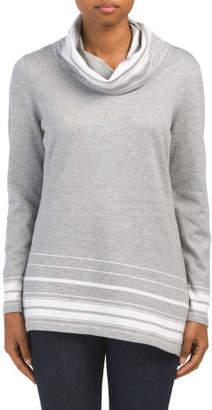 Long Sleeve Cowl Neck Pullover
