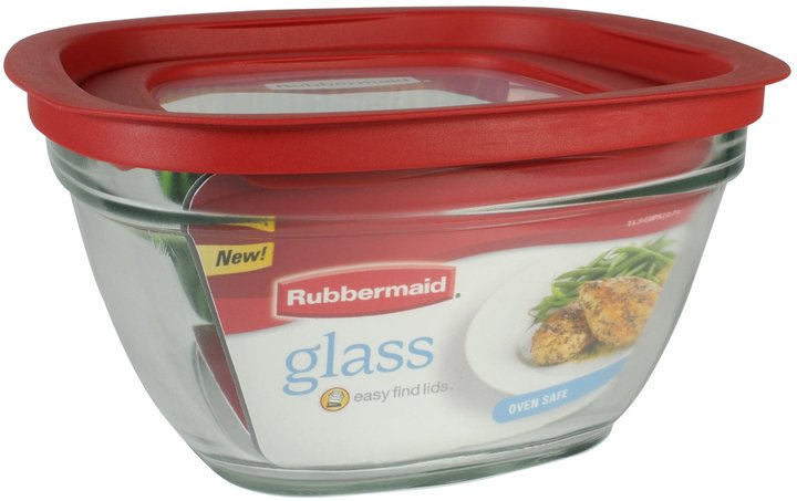 Rubbermaid 11-1/2-Cup Glass Food Storage Container w/ Easy Find Lid