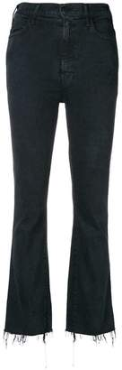 Mother frayed bootcut cropped jeans