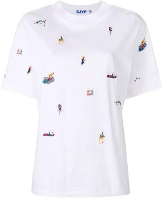 Sjyp embroidered T-shirt