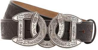 DSQUARED2 30mm Dd Buckle Embossed Leather Belt