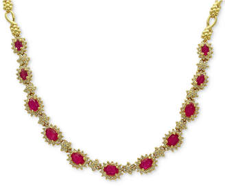 Effy Amore by Certified Ruby (5-1/4 ct. t.w.) & Diamond (2 ct. t.w.) Collar Necklace in 14k Gold