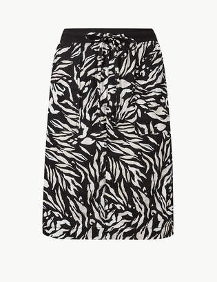 27a89bb0286d Marks and Spencer Animal Print A-Line Mini Skirt