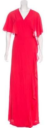 Halston Maxi Wrap Dress w/ Tags
