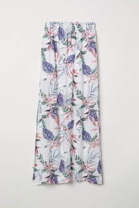 H&M Patterned Maxi Skirt - White