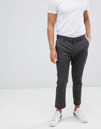 Pull&Bear Tailored Trousers In Grey Check
