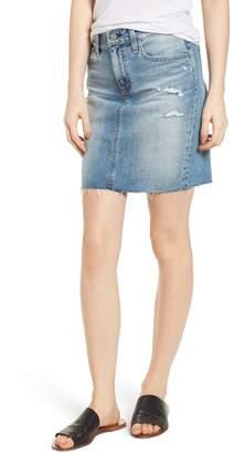 AG Jeans The Erin Distressed Denim Miniskirt