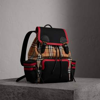 Burberry The Large Rucksack in Vintage Check and Leather