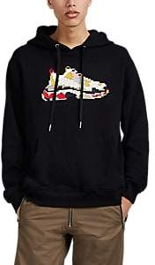 Mostly Heard Rarely Seen 8-Bit Men's Dadcore Sneaker-Graphic Cotton Hoodie - Black