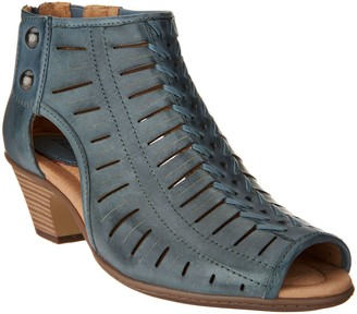 Earth Leather Cut-out Heeled Sandals - Vicki