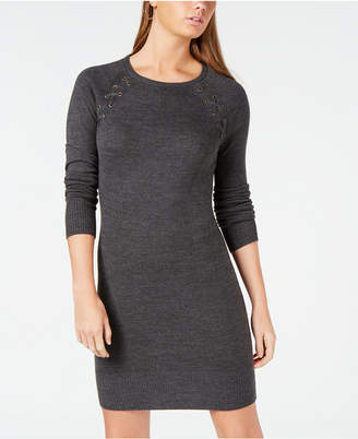 BCX Juniors' Lace-Up Sweater Dress