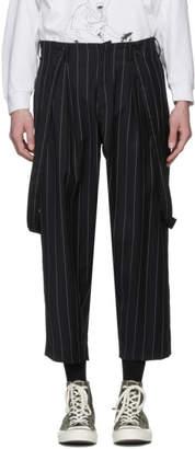 Enfants Riches Deprimes Black Wool Carrot Leg Suspender Trousers