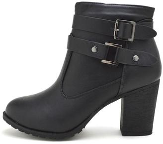 Dollhouse Belted Chunky Bootie $34 thestylecure.com