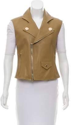 Givenchy Leather Moto Vest