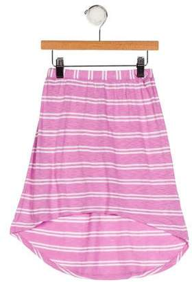 Splendid Girls' Striped High-Low Skirt