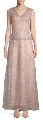 Tadashi Shoji Bead-Embellished Tulle Gown