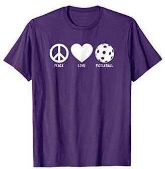 Cute Peace Love Pickleball T-Shirt
