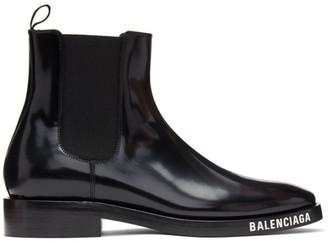 Balenciaga Black Evening Boots