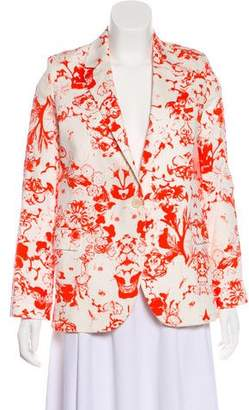 Paul & Joe Floral Print Notch-Lapel Blazer