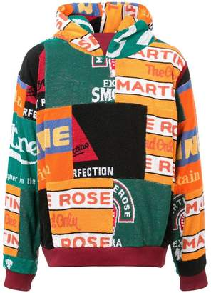Martine Rose patchwork fleece hoodie