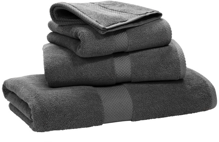 Avenue Towel - Charcoal - Wash Cloth