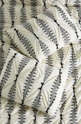 Anthropologie Embroidered Lilou Pillow Shams