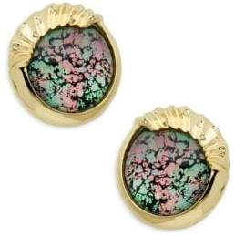 Alexis Bittar Crystal-Accent Oversized Clip-On Stud Earrings